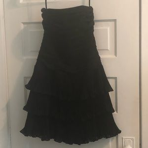 White House Black Market Black Strapless Dress